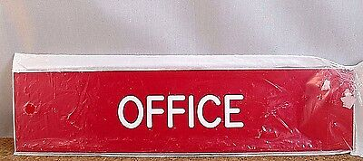Office Depot 665-208 Office Sign Door Plate 8x2 Engraved Redwhite Letters