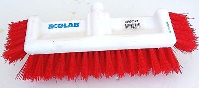 Ecolab 10′ Dual Surface Floor Deck Scrub Outdoor Heavy Duty Cleaning Brush  ()