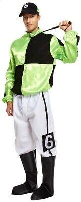 Herren Grün Jockey Pferderennen Uniform Sport Stag Kostüm Kleid Outfit