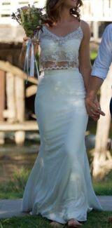 Stunning Two Piece Wedding Dress