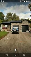 Custom built bungalow for Rent or Rent to own in Walkerton