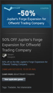 50% off Jupiter's Forge DLC for Offworld Trading Company