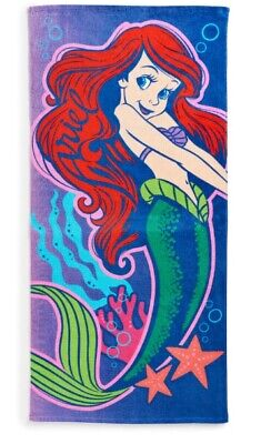 Ariel Little Mermaid Princess Bath Swim Beach Pool Towel Colorful 58 x 28'' NWT](Little Mermaid Towel)