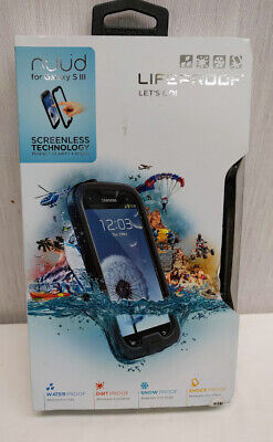 New! Authentic LifeProof Nuud Samsung Galaxy S3 III WaterProof Phone case