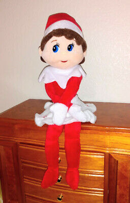 """Elf On The Shelf Plush Girl Doll White Snowflake 15"""" Removed from Box Never Used"""