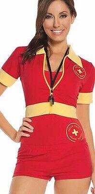 Beach Patrol - 4 pc. costume - Small! Adult Woman Life Gaurd - Lifegaurd Costume