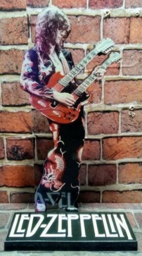 "JIMMY PAGE DISPLAY 8"" STANDEE Figure Statue Led Zeppelin Cutout Standup Guitar !"