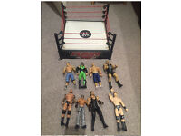 WWF RAW Ring & 8 figures
