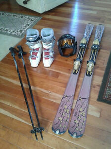 New Women's Head Skis, boots, poles, helmet and goggles