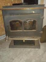 Cast Iron Wood Stove - Glass Door