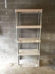 5 Shelf storage rack - 30x14x75