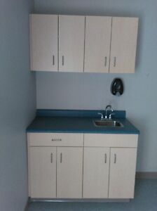 Stainless steel sink and counter and cuberts