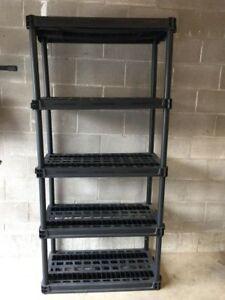5 shelf storage rack 36x18x76