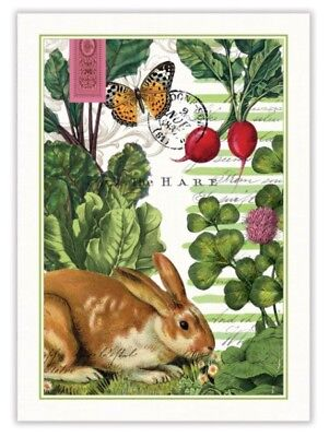 Michel Design Works Cotton Kitchen Tea Towel - Garden Bunny Rabbit Easter - New