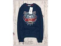 Kenzo sweatshirt. Medium. Tight fitting. Bagged and tagged. Navy