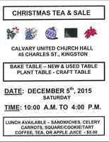 Christmas Tea & Sale