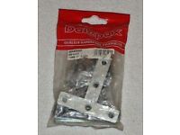 DALEPAX DX40592 METAL TEE PLATES 75mm 5 PIECES WITH FIXINGS QUALITY HARDWARE .*