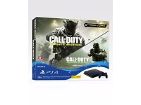 Play Station 4 Jet Black 500 GB NEW UNBOXED - (Call of Duty Infinite Warfare Edition)