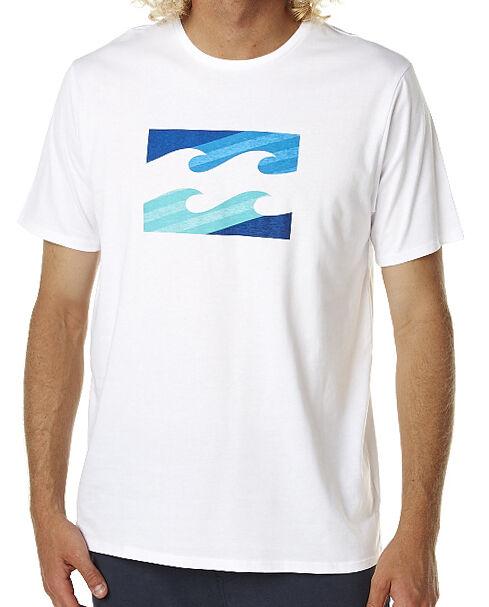 "NEW + TAG BILLABONG MENS (M) ""SUPER WAVE"" SURF T-SHIRT TEE WHITE 2 REGULAR FIT"