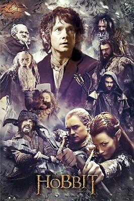 THE HOBBIT MOVIE POSTER ~ FACES 24x36 Desolation Of Smaug Bilbo Legolas Tauriel