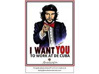 Kitchen Staff needed at Revolucion de Cuba
