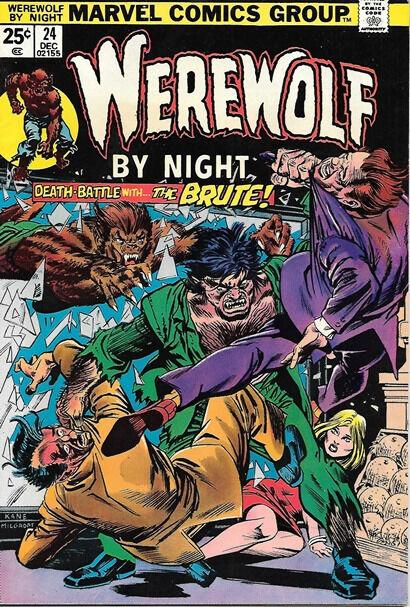 Werewolf By Night Comic Book #24, Marvel Comics 1974 FINE+