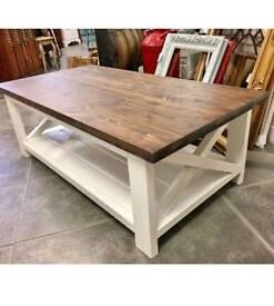 Farmhouse X solid coffee table