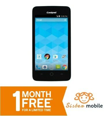 Coolpad Avail (A+) - Prepaid Cell mobile Phone (One month Free + charger)
