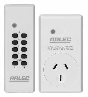 Genuine ARLEC Remote Control Mains Switch Power Point -Free Delivery - AU Stock