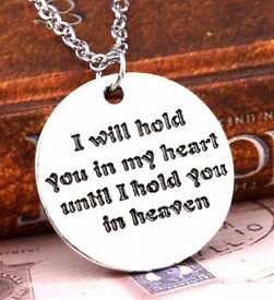 Silvertone heartfelt quote necklace ~ ONLY £1.00
