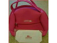 Brand new genuine lacoste bag and matching pouch