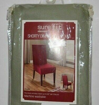 Sure Fit Cotton Duck Short Dining Room Chair Slipcover Sage SHORTY