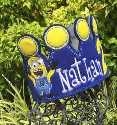 Minion Birthday Crown, Minion Party, Minion Birthday, Minion Ideas - Minion Birthday Party Ideas