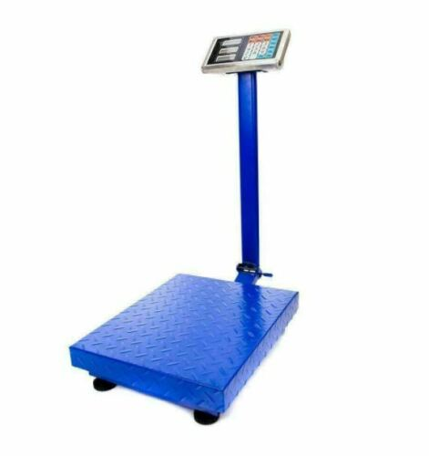 660 Lb Digital Weight Shipping Industrial Fold Platform Postal floor Scale Blue