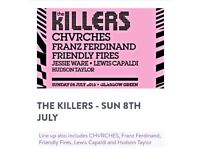 2x tickets The Killers at TRNSMT Glasgow