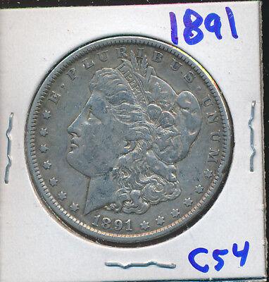 MORGAN SILVER DOLLAR 1891-P - #C54