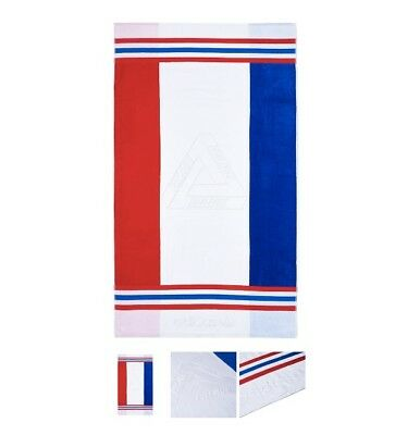 PALACE ADIDAS SPRING2018 BEACH TOWEL WHITE RED BLUE FRANCE IN HAND c7efa56b9