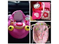 Baby girls BARGAIN toy bundle (bouncer, doughnut & playmat *immaculate*