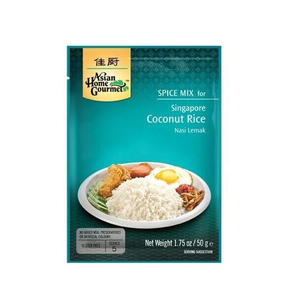 Singapore Coconut Rice 50g Nasi Lemak bis 5 Pers. Kokosnussreis KokosReis