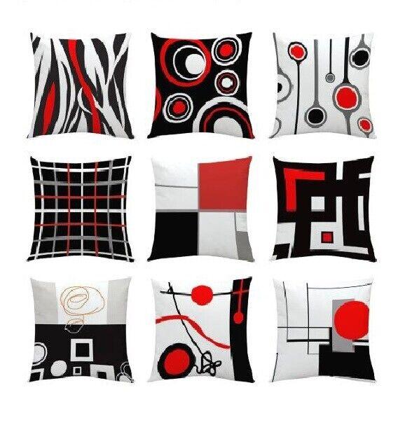 40x40cm Cotton linen Cushion Covers Geometric Throw Pillowcase Home Sofa Decor