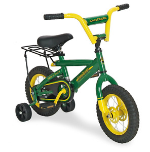 John Deere 12-inch Bicycle w/trainers