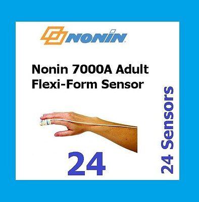 24 Pack Nonin Medical Flexi-form Ii 7000a Disposable Adult Sensor For Oximeter