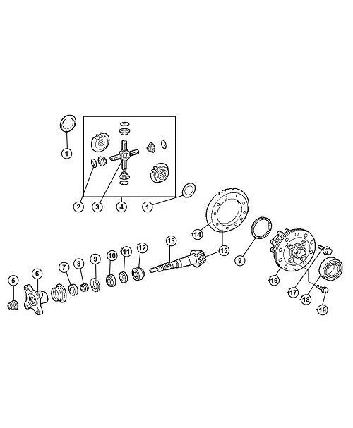 Sprinter Differential Bearing Seal Master Kit fits