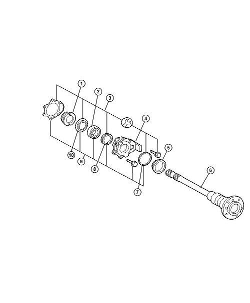 AXLE BEARING REAR WHEEL G500 G55 G550 MERCEDES SPRINTER