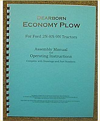 Ford Dearborn Economy Plow Assembly Operators Manual