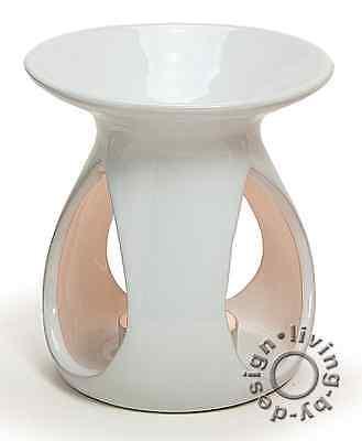 Duftlampe Keramik Weiß - Öllampe Lampe Aromalampe Aromaspender Duftöl Duftwachs