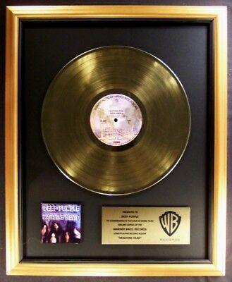 Deep Purple Machine Head LP Gold Non RIAA Record Award Warner Brother Records