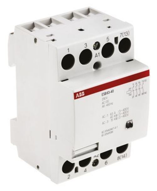 ABB System M Pro ESB 4 Pole Contactor, 4NO, 63 A, 41 kW, 230 V ac Coil