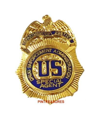 DEA US Drug Enforcement Agency Special Agent Mini Badge Lapel Hat Collector Pin@