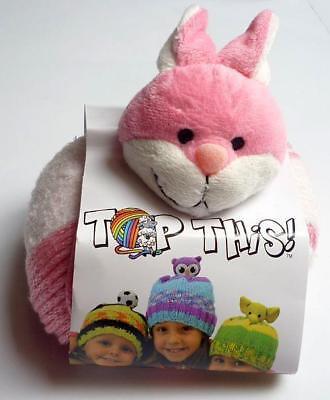 Abrigo Tejido - Gorro para Niños Con Lindo Borla - Conejos